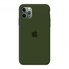 Силиконовый чехол c закрытым низом Apple Silicone Case Virid для iPhone 11 Pro Max