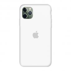 Силиконовый чехол c закрытым низом Apple Silicone Case White для iPhone 11 Pro Max