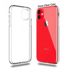 Силиконовый чехол Silicone Clear Case для iPhone 11