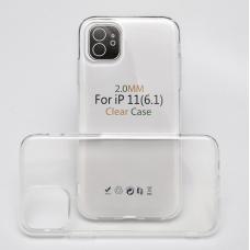 Силиконовый чехол Silicone Clear Case для iPhone 11 Pro Max
