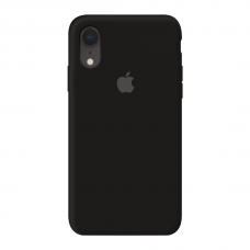 Силиконовый чехол c закрытым низом Apple Silicone Case Black для iPhone Xr