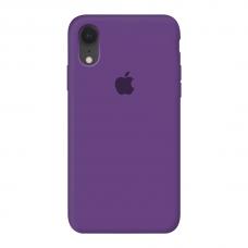 Силиконовый чехол c закрытым низом Apple Silicone Case Purple для iPhone Xr