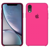 Силиконовый чехол Apple Silicone Case Barbie Pink для iPhone Xr