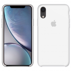 Apple Silicone case iPhone Xr white купить Киев Украина - apple iPhone Xr silicone case