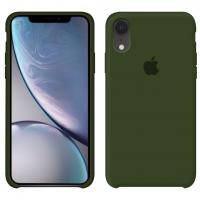 Силиконовый чехол Apple Silicone Case Virid (Темно-зеленый) для iPhone XR