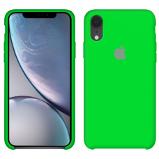 Силиконовый чехол Apple Silicone Case Uran Green для iPhone Xr