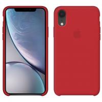 Силиконовый чехол Apple Silicone Case Red для iPhone Xr