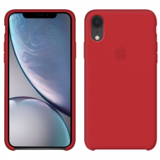 Apple Silicone case iPhone Xr red купить Киев Украина - apple iPhone Xr silicone case