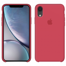 Силиконовый чехол Apple Silicone Case Red Raspberry для iPhone Xr