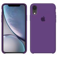 Силиконовый чехол Apple Silicone Case Purple для iPhone Xr