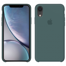 Силиконовый чехол Apple Silicone Case Pine Green для iPhone Xr