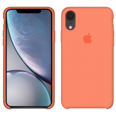 Силиконовый чехол Apple Silicone Case Peach для iPhone Xr