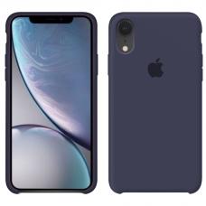 Силиконовый чехол Apple Silicone Case Midnight Blue для iPhone Xr