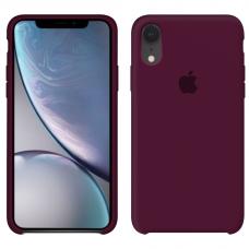 Силиконовый чехол Apple Silicone Case Marsala для iPhone Xr