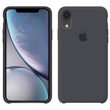 Силиконовый чехол Apple Silicone Case Charcoal Grey для iPhone Xr