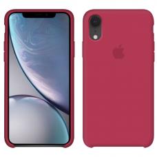 Силиконовый чехол Apple Silicone Case Camelia для iPhone Xr