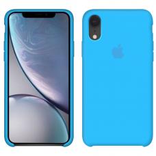 Силиконовый чехол Apple Silicone Case Blue для iPhone Xr
