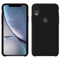 Силиконовый чехол Apple Silicone Case Black для iPhone Xr