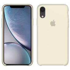 Силиконовый чехол Apple Silicone Case Antique White для iPhone Xr