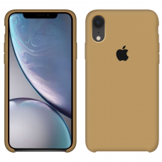 Силиконовый чехол Apple Silicone Case Mustard Beige для iPhone Xr