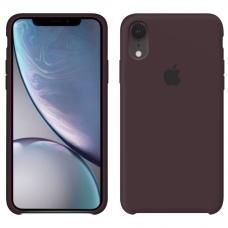 Силиконовый чехол Apple Silicone Case Cocoa для iPhone Xr