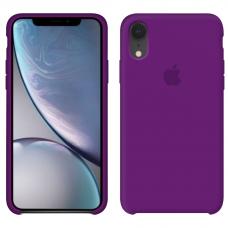 Силиконовый чехол Apple Silicone Case фиолетово-баклажанный для iPhone Xr