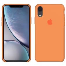 Силиконовый чехол Apple Silicone Case Papaya для iPhone Xr