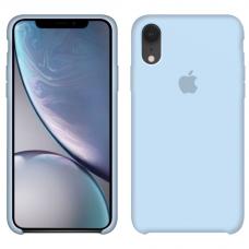Силиконовый чехол Apple Silicone Case Sky Blue для iPhone Xr
