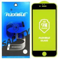 Гибкое молекулярное cтекло Flexible Glass для iPhone 6/6s Черное