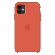 Силиконовый чехол Apple Silicone Case Clementine для iPhone 11 OEM