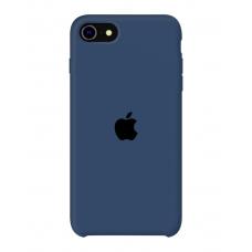 Силиконовый чехол Apple Silicone Cobalt Blue для iPhone SE 2