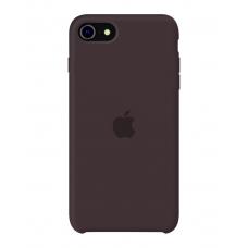 Силиконовый чехол Apple Silicone Cocoa для iPhone SE 2