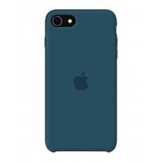 Силиконовый чехол Apple Silicone Cosmos Blue для iPhone SE 2