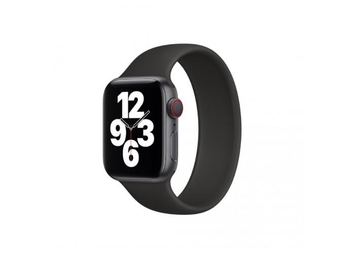 Монобраслет Solo Loop для Apple Watch 38/40/42/44мм Black (копия)