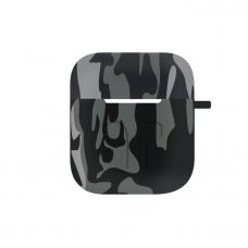 Cиликоновый чехол для AirPods Camo Gray
