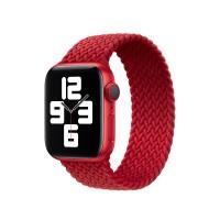Монобраслет Braided Solo Loop для Apple Watch 38/40/42/44мм Red (копия)