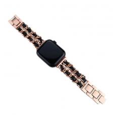 Ремешок для Apple Watch 38/40mm Chane Rose Black