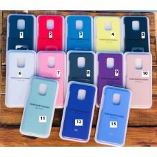 Чехол Silicone case Full (закрытый низ) Huawei P40 Lite /Nova 7i /Nova 6SE 2020