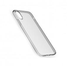 Черно-прозрачный силиконовый чехол Hoco Tranprarent TPU Slim iPhone X/Xs