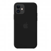 Силиконовый чехол Apple Silicone Case Black для iPhone 12