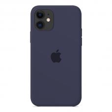 Силиконовый чехол Apple Silicone Case Midnight Blue для iPhone 12