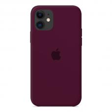 Силиконовый чехол Apple Silicone Case Marsala для iPhone 12 Pro