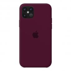 Силиконовый чехол Apple Silicone Case Marsala для iPhone 12 MIni