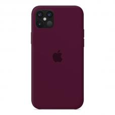 Силиконовый чехол Apple Silicone Case Marsala для iPhone 12 Pro Max