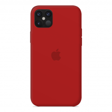 Силиконовый чехол Apple Silicone Case Red для iPhone 12 Pro Max