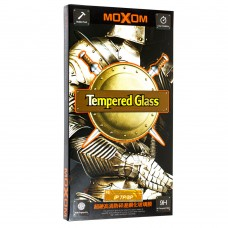 Защитное стекло Moxom для iPhone 7 Plus / 8 Plus черного цвета