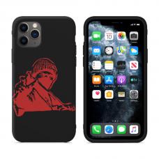 """Силиконовый кастомный MagCase чехол для iPhone """"Man Red"""""""