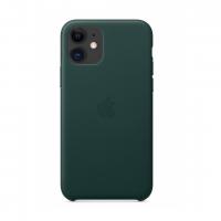 Кожаный чехол Leather Case Forest Green для iPhone 12 Mini