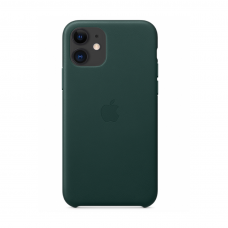 Кожаный чехол Leather Case Forest Green для iPhone 12 Mini