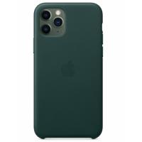 Кожаный чехол Leather Case Forest Green для iPhone 12 Pro
